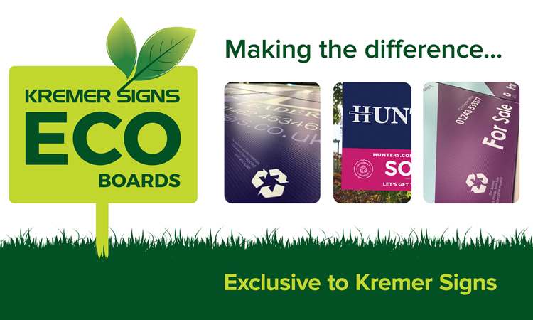 Eco Boards By Kremer Signs!